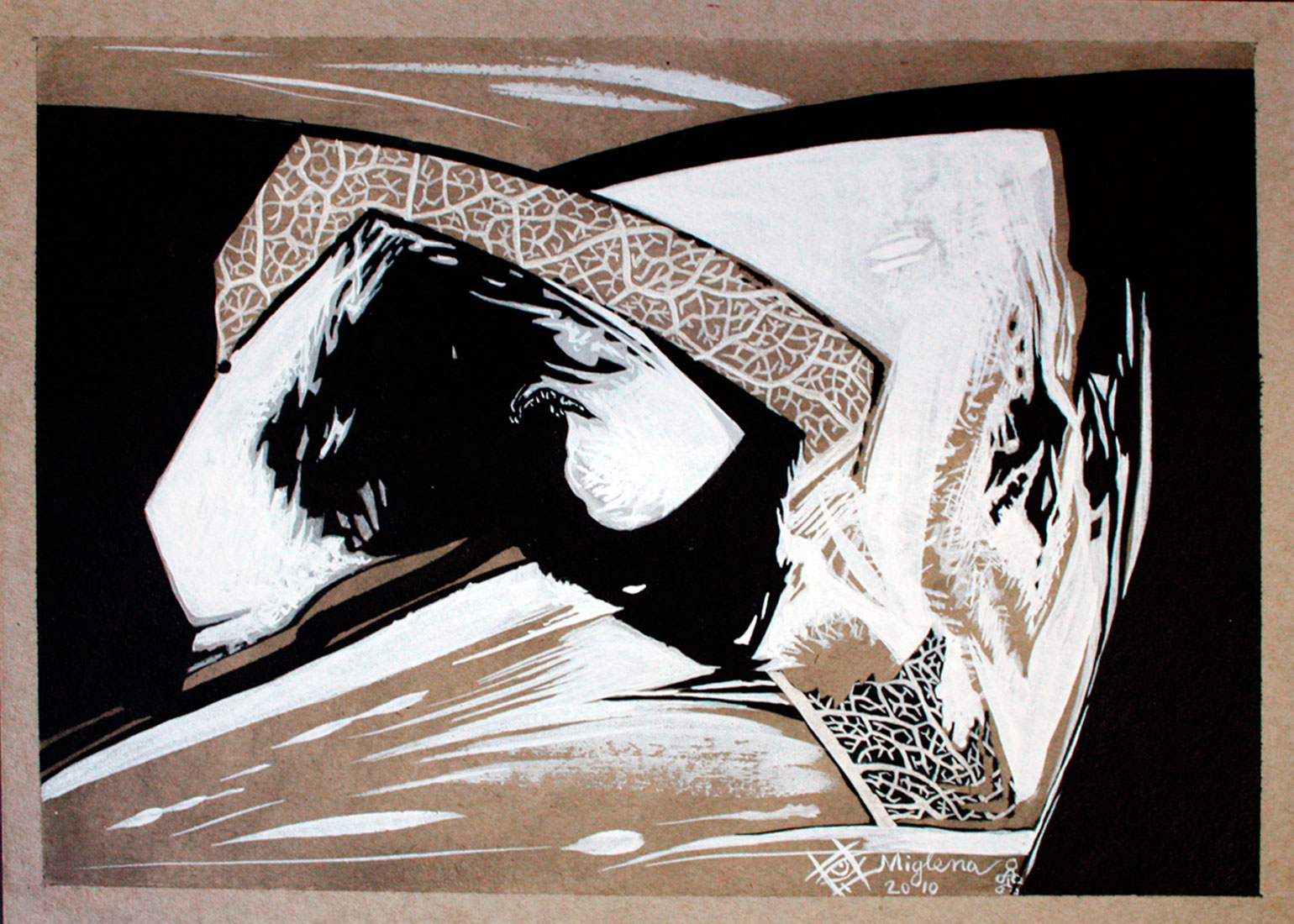 22 x 31 cm drawing ink on paper abstract art