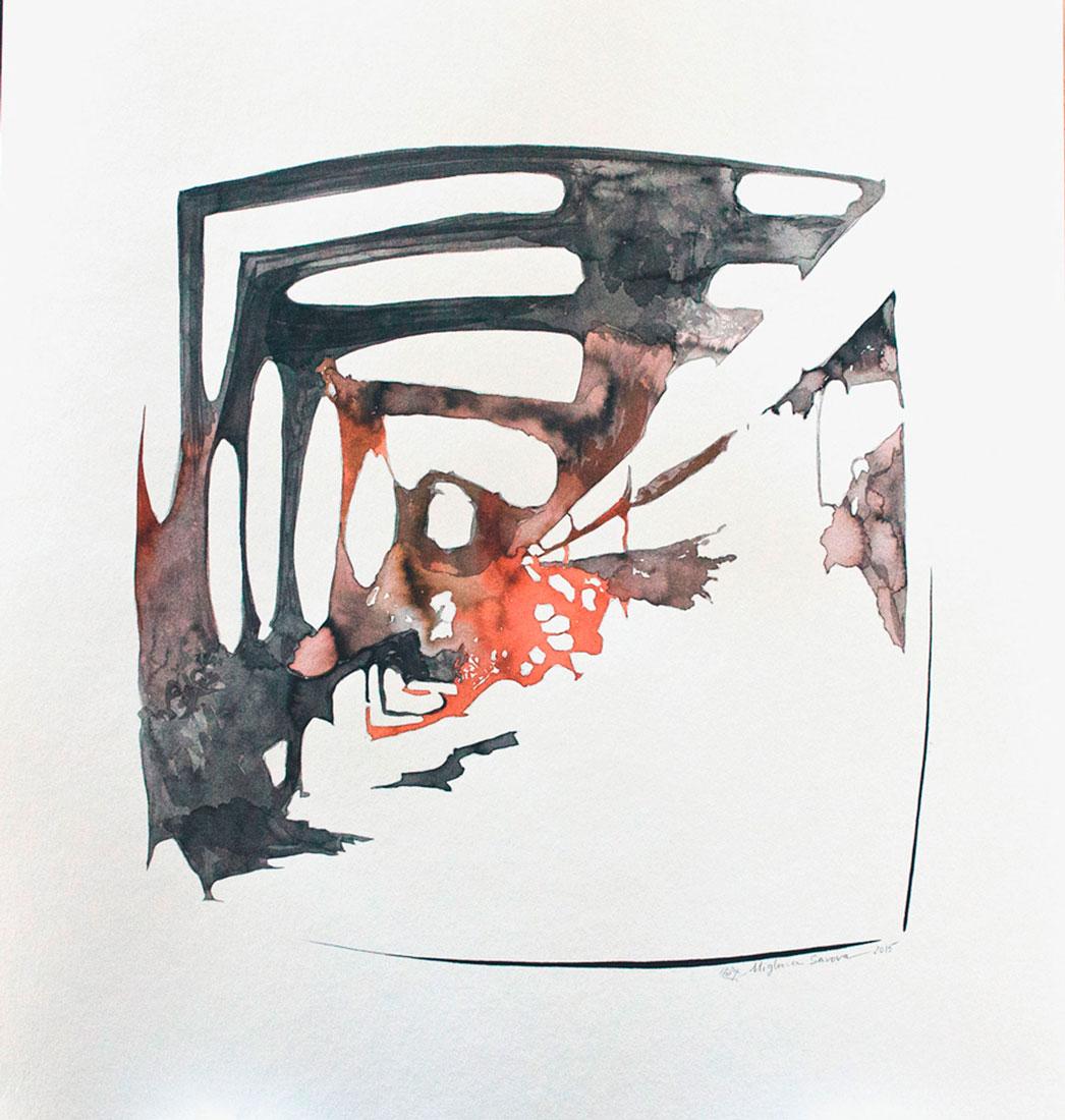 introspection VI, 2015, 50 x 50 cm.
