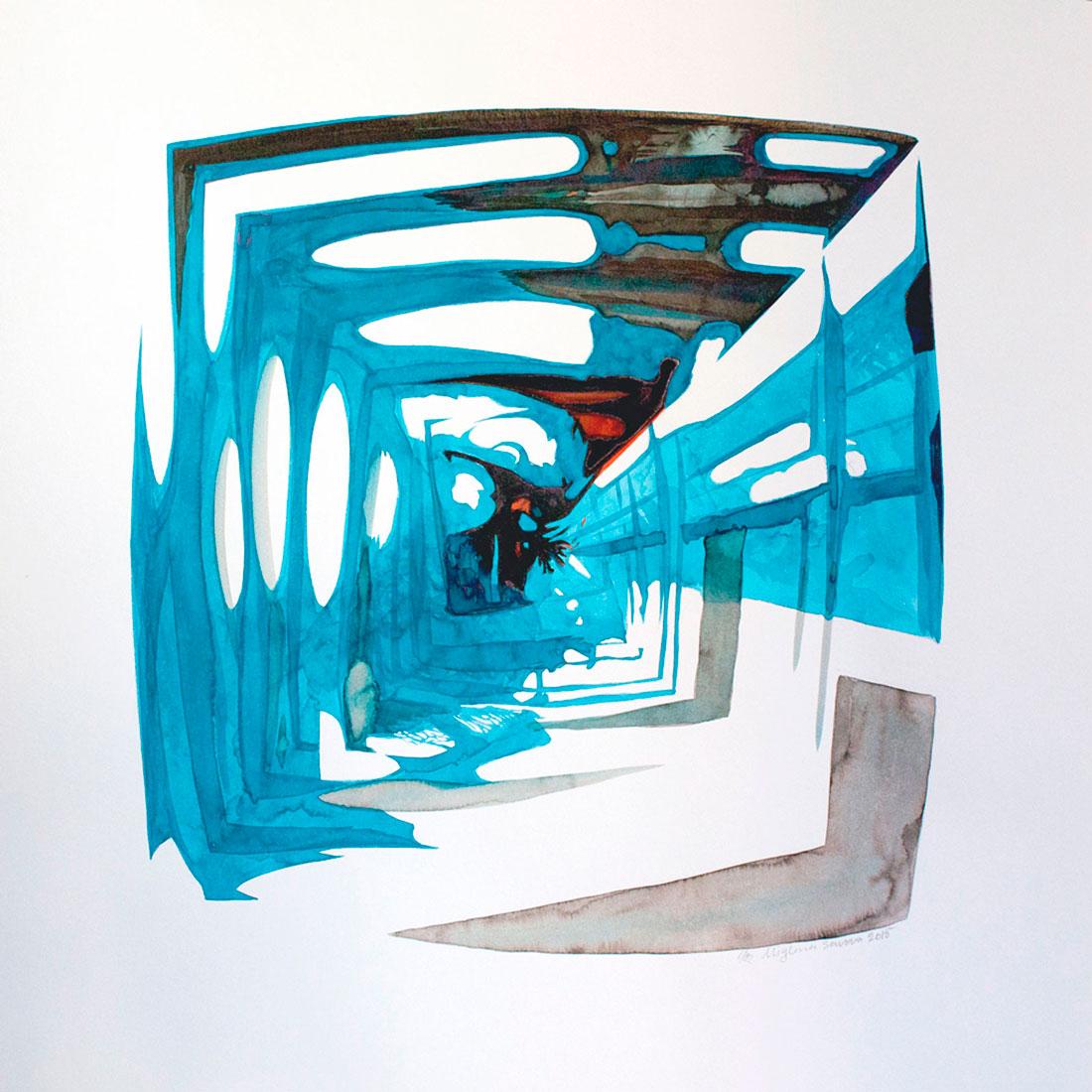 introspection VII, 2015, 50x50 cm.