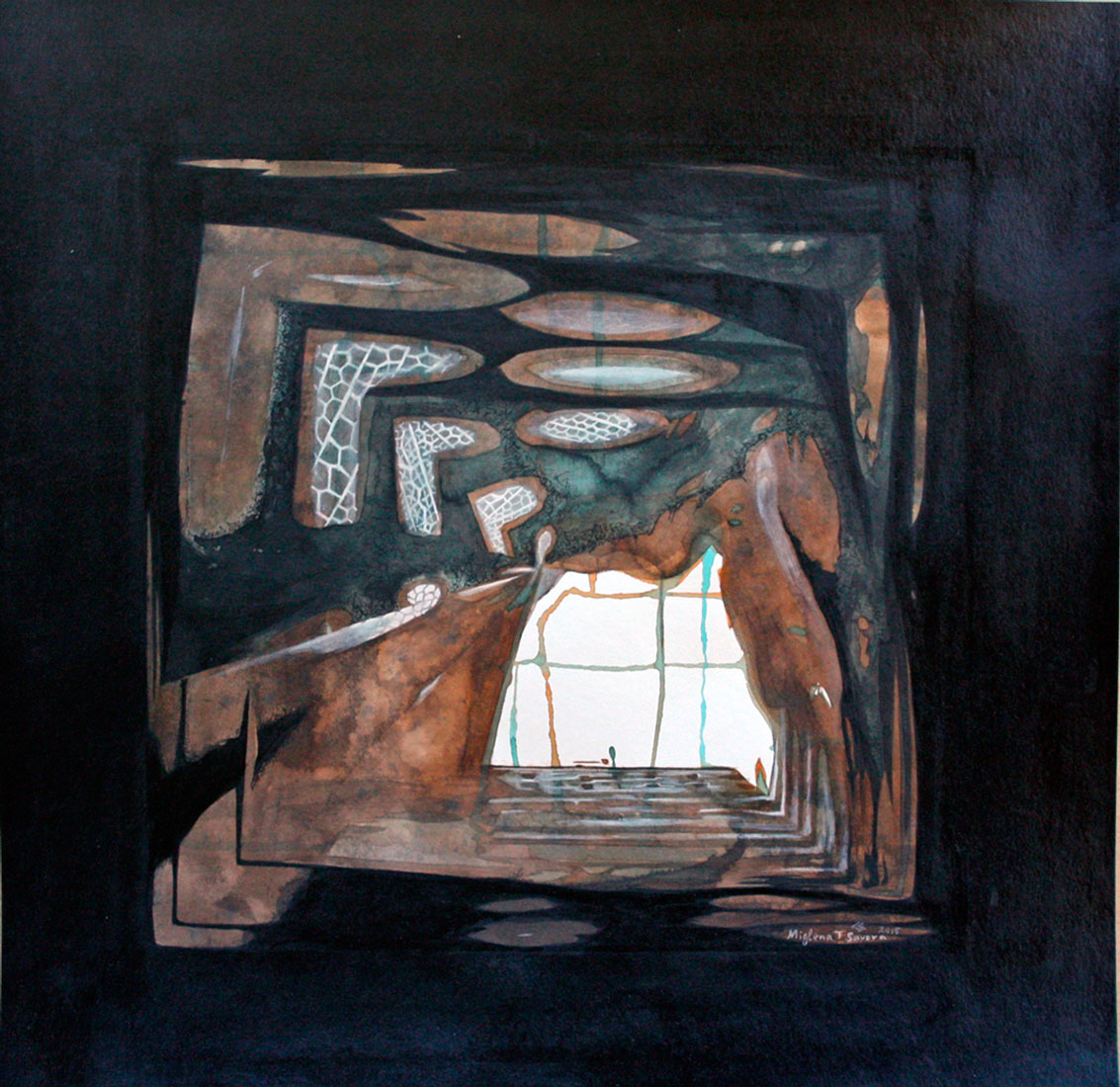 introspection VIII, 2015, 50 x 50 cm.