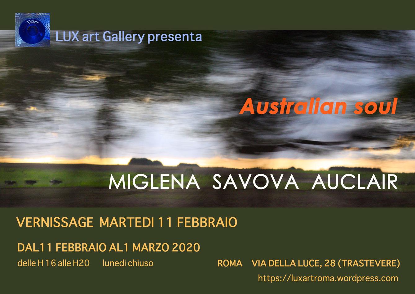 """exhibition """"australian soul"""" rome 2020"""