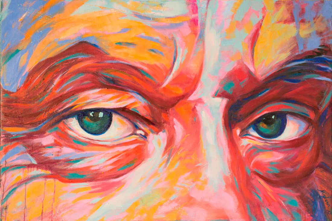 jack nicholson, 2017, 100x120 cm.