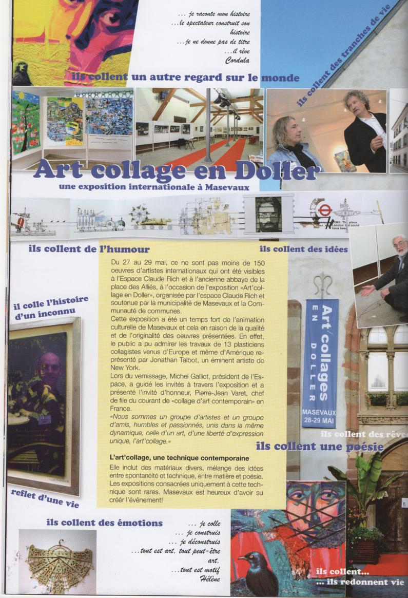 espace claude rich art collage, doller, france, 2012
